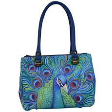 Anuschka Hand Painted Leather Triple Compartment Medium Tote