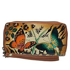 Anuschka Handpainted Genuine Leather Wristlet