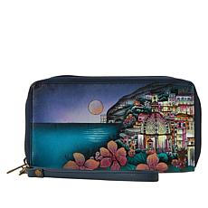 Anuschka Handpainted Leather Large Clutch Wallet