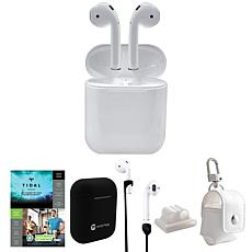 Apple AirPods 2nd Gen. Earbuds & Charging Case w/Accessories & Voucher