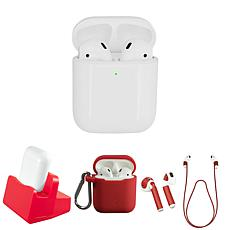Apple AirPods 2nd Gen. Earbuds w/ Wireless Charging Case & Accessories