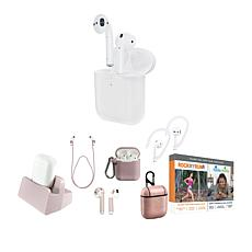 Apple AirPods Earbuds with Wireless Charging Case and Accessories