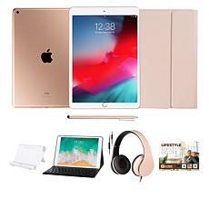 "Apple iPad® 10.2"" Gold 32GB with Voucher, Keyboard and Headphones"
