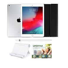"""Apple iPad® 9.7"""" 128GB Silver Tablet with Keyboard Case & Apple Pencil"""