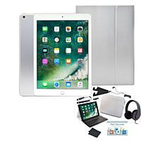 "Apple iPad® 9.7"" 128GB Tablet with Keyboard Case and Headphones"