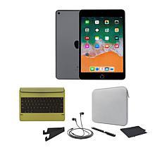 Apple iPad Mini 5 64GB Space Gray w/Bluetooth Keyboard and Accessories
