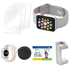 Apple Series 3 42mm Sport Watch with Cellular, Extra Band and Case