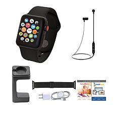 Apple WatchSeries 3 42mm with Cellular & Wireless Headphones – Black