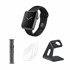 Apple Watch Series 3 42mm With Stand and Screen Protectors