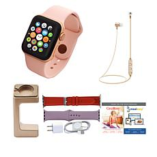 Apple Watch Series 4 40mm w/Cellular, 2 Extra Bands & Wireless Earb...