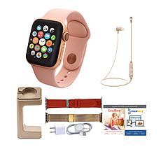 Apple Watch Series 4 40mm with 2 Extra Bands and Wireless Earbuds