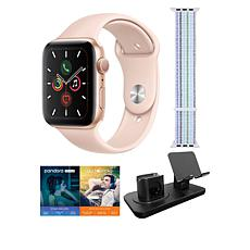 Apple Watch Series 5 44mm in Rose Gold with GPS and 3-in-1 Stand