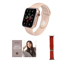 Apple Watch Series 6 44mm Rose Gold with GPS and Leather Band