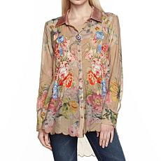 Aratta for Adriana Shirt - Faded Gold Floral