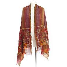 Aratta Isola Hand Embroidered Shawl