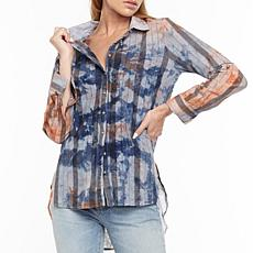 Aratta Pacific Crest Washed Embroidered Stripe Shirt