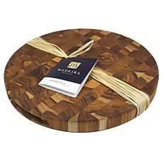 "Architec Madeira End Grain Round Chop Block - 14"" - Teak"