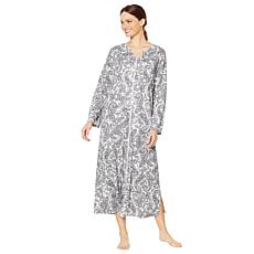 Aria Interlock Printed Zip-Front Caftan
