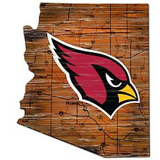 Arizona Cardinals Distressed State with Logo