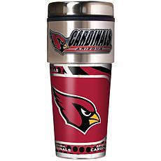 Arizona Cardinals Travel Tumbler w/ Metallic Graphics and Team Logo