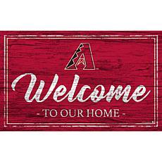 "Arizona Diamondbacks Team Color Welcome Sign - 11x19"""