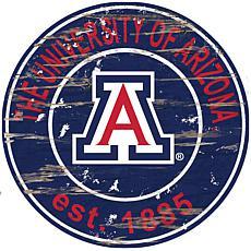 Arizona Distressed Round Sign