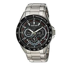 Armitron Men's 3-Subdial Stainless Steel Black Dial Tachymeter Watch