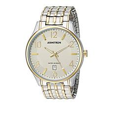 Armitron Men's  Goldtone and Silvertone Stainless Steel Watch
