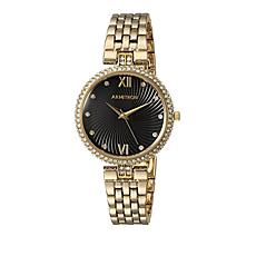 Armitron Women's Goldtone Crystal Bezel Bracelet Watch