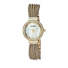 Armitron Women's Mother-of-Pearl Goldtone Mesh Watch
