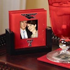 Art Glass Photo Coaster Set - Texas Tech