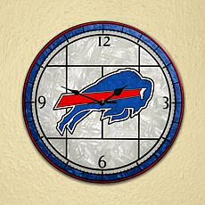 Art Glass Wall Clock - Buffalo Bills