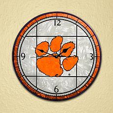 Art Glass Wall Clock - Clemson University