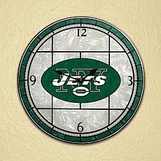 Art Glass Wall Clock - New York Jets