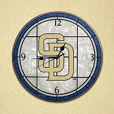 Art Glass Wall Clock - San Diego Padres