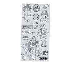 Art Impressions Clear Stamps Pack Your Bags 15-piece Set