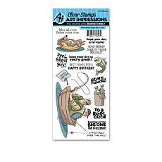 Art Impressions Clear Stamps Reel Great Guys 15-piece Set