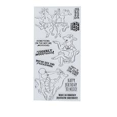 Art Impressions Clear Stamps Udderly Fantastic 11-piece Set