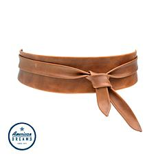 """""""As Is"""" ADA Collection Argentinean Leather Classic Wrap Belt"""