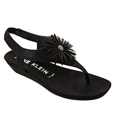 """As Is"" Anne Klein Isotta Demi-Wedge Thong Sandal"