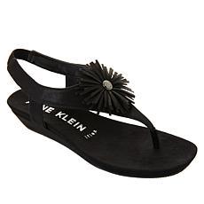 """As Is"" Anne Klein Isotta Demi-Wedge Thong Sandal"