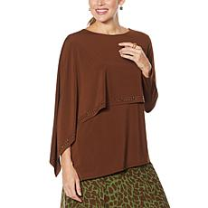 """""""As Is"""" Antthony Asymmetric Long-Sleeve Double Layer Top"""
