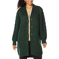 """""""As Is"""" Antthony """"Glorious Gifts for Her"""" Textured Sweater Jacket"""
