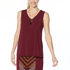 """As Is"" Antthony Holiday Luxe Easy V-Neck Tank"