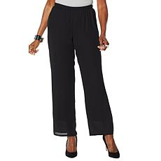 """""""As Is"""" Antthony Lined Chiffon Straight-Leg Pant"""