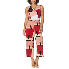 """""""As Is"""" Antthony Sleeveless Wide-Leg Cropped Jumpsuit"""