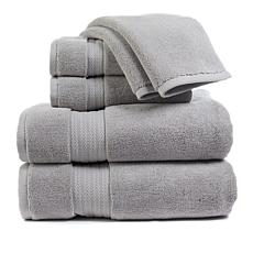 """""""As Is"""" august & leo Luxe 100% Turkish Cotton 6-piece Towel Set"""