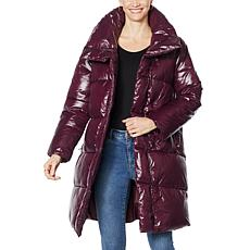 """As Is"" Avec Les Filles Asymmetric Nylon Puffer Coat"
