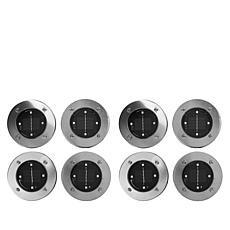 """As Is"" Bell + Howell Disk Lights Solar Lights 8-pack w/4 Lights in..."