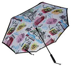 """As Is"" BetterBrella 48"" Jumbo Auto Reverse Open and Close Umbrella"